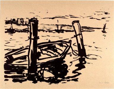 Harbor Scene with Rowboat