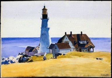 Lighthouse and Buildings, Portland Head, Cape Elizabeth, Maine