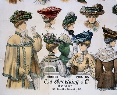 Advertisting poster for hats for C.A. Browning & Co., Boston