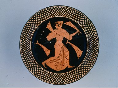 Plate with Thetis and dolphins