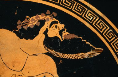 Kylix (wine cup) with Silenos