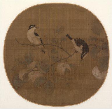 Birds on a Peach Branch