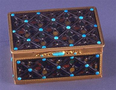 Rectangular snuff box