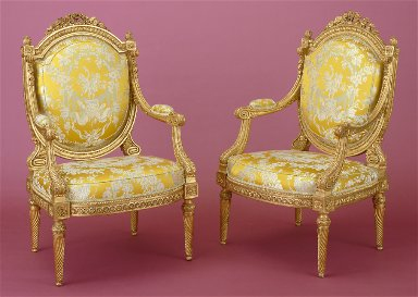 Fauteuil, pair from a set of four