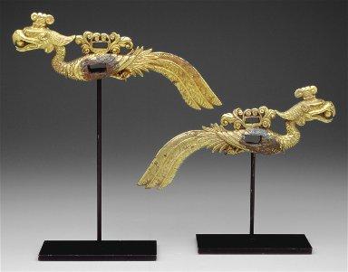Pair of Phoenix Form Cheek Pieces