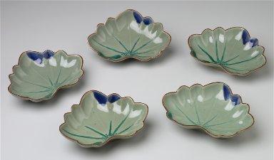 Five Ko-Imari Leaf Shaped Dishes