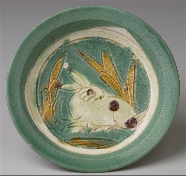 Dish with Incised Rabbit