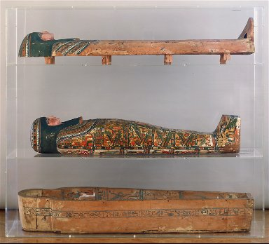 Mummy of Lady Tashat in cartonnage