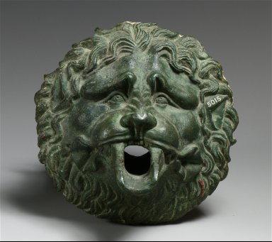 Bronze waterspout in the form of a lion mask