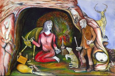 Saint Rosalia and the Hunter