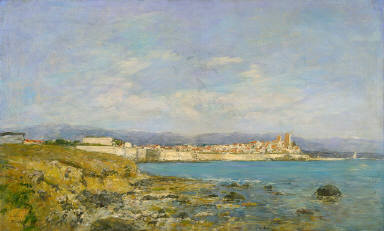 View of Antibes at Sunset