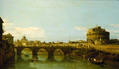 View of the Tiber with the Castel Sant'Angelo