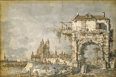 An Imaginary View with a Triumphal Arch