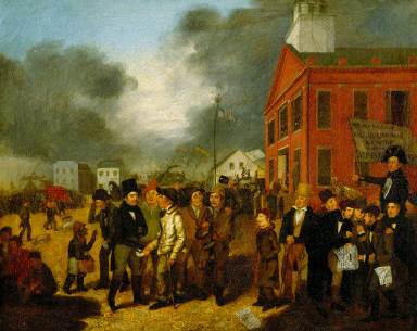 First State Election in Detroit, Michigan, 1837