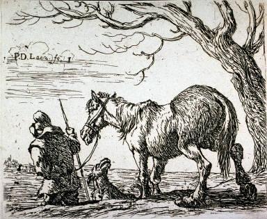 Le payan conduisant un cheval