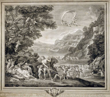 Venus Asleep Surrounded By Cupids