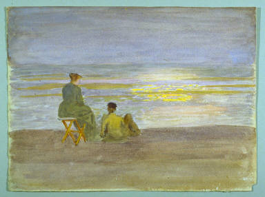 Recto: Man and Woman on the BeachVerso: Beach Scene