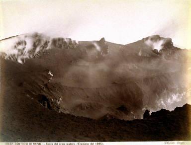Mount Vesuvius. Contorni De Napoli. Bocca Del Gran Cratere