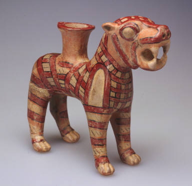 Rhyton in the shape of a lion