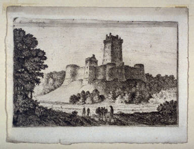 Borthwick Castle from East, from: Sixteen sheets containing 58 plates