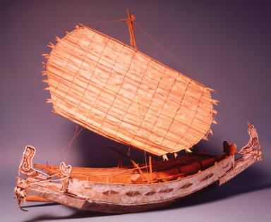 Outrigger canoe model