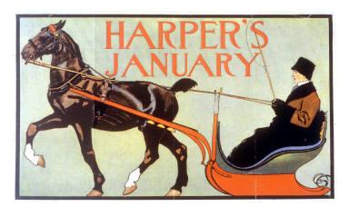 Harper's January (horse & sleigh)