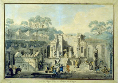 View of the Temple of Isis at Pompeii