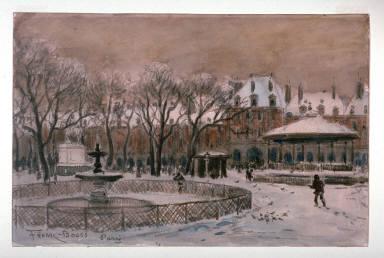 Place des Vosges in Winter or Maison de Victor Hugo