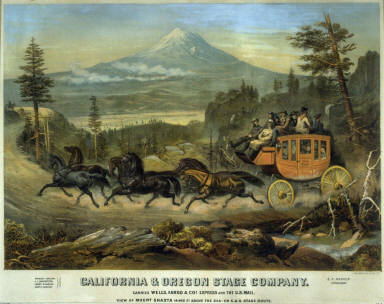 California and Oregon Stage Company (View of Mount Shasta)
