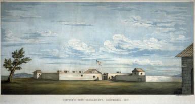 Sutter's Fort, Sacramento, California, 1847