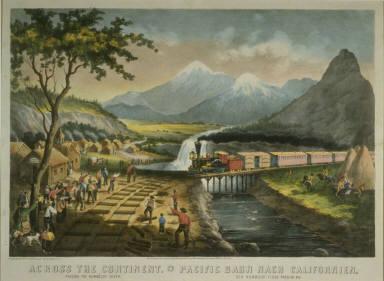Across The Continent, Passing the Humboldt River / Pacific Bahn Nach Californien, den Humboldt Fluss Passirend