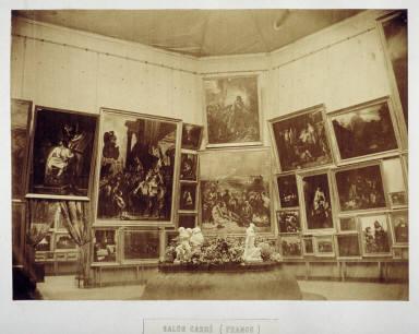 Salon Carré (Delacroix gallery at the Exposition Universelle}