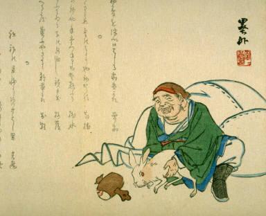 Daikoku holding a hare