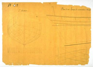 Plan d'un Lougre de construction Anglais - Le Brillant