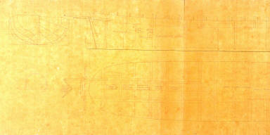 Longitudinal Sections and Top and Side View of a Ship