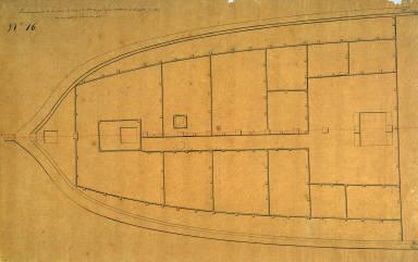 Deck Plan of the Ship L'Ajax