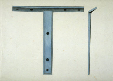 Front and side view of metal bracket