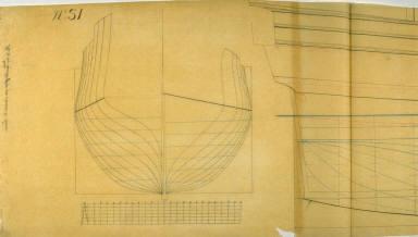 Longitudinal and Cross Section of a Jackboat