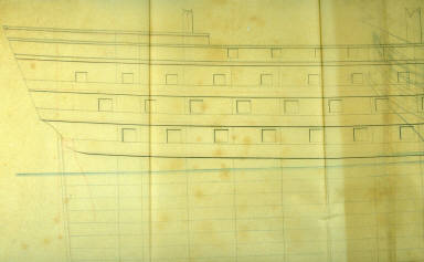 Longitudianal Section of a Ship