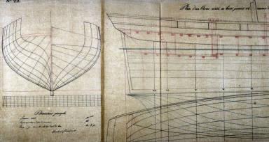Longitudinal Sections of a Ship