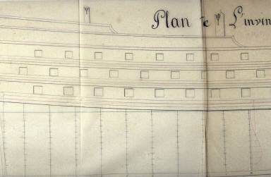 Longitudinal Section of the Ship L'Invincible