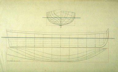 Longitudinal and Cross Section of a Ship