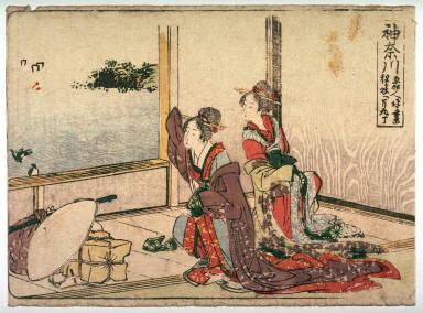 Kanagawa, no. 4 from an untitled Tokaido series (reissue of Hokusai's Tokaido series for poetry circle of Okazaki)