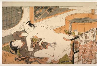 Man raping a woman beside the bathtub