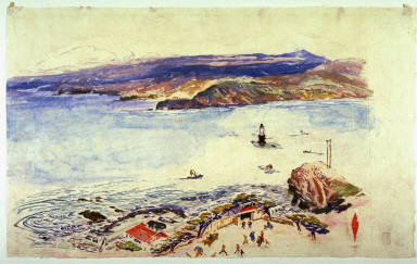Land's End, San Francisco, Beach, Lighthouse and Marin Hills