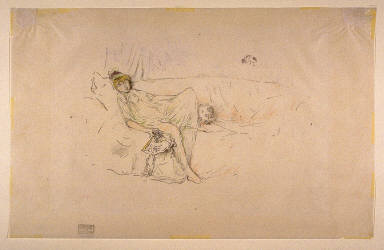 Draped Figure Reclining