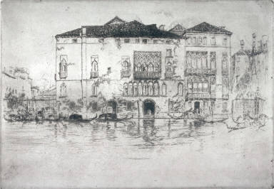 The Palaces, pl. 9 from the portfolio Venice, a Series of Twelve Etchings (London: The Fine Art Society, 1880)