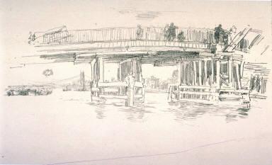 Old Battersea Bridge, from the portfolio Notes (London: Boussod, Valadon & Co., 1887)