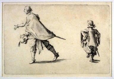 A Gentleman and His Page, pl. [1] from the second edition of the series Capricci di varie figure