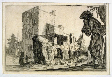 The Herdsman and the Ruins, pl. [3] from the second edition of the series Capricci di varie figure